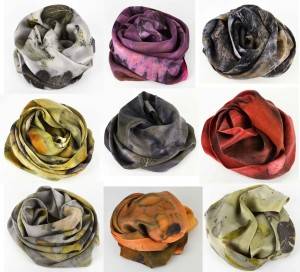 Natural Plant-dyed Silk Scarves by Ayn Hanna