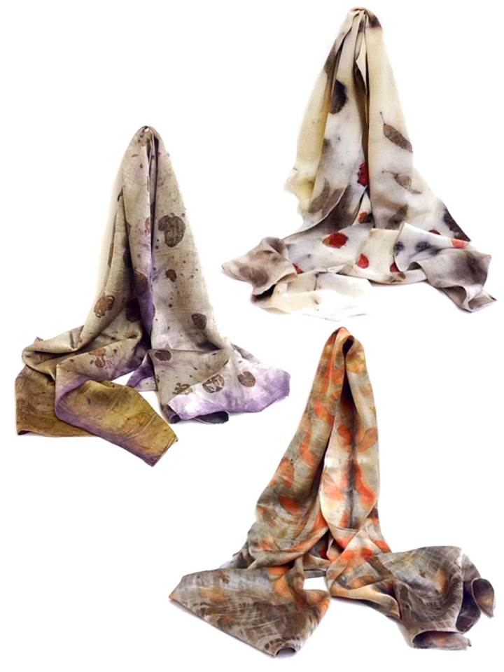 Eco-dyed Silk Scarves