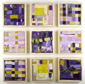 """Orchid Grid #1 through #9"" available at Guilford Art Center (CT)."