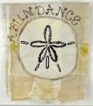 """Abundance"", 5 x 5 inches, mini textile painting (fabrics, stitching), ©2014 Ayn Hanna"