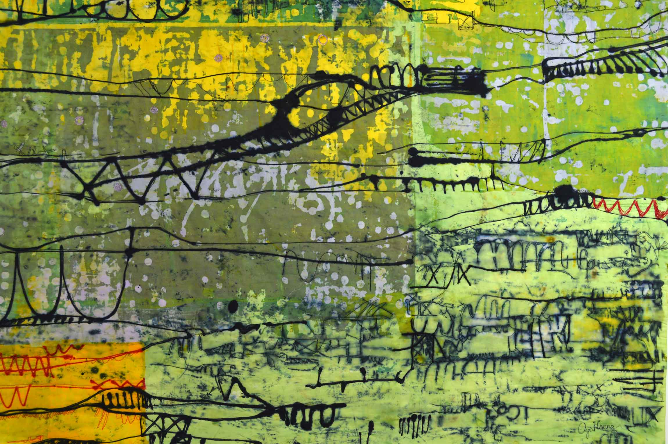 And now for some Good News 171 Ayn Hanna : LineScape 36detail 4 from www.aynhanna.com size 2300 x 1529 jpeg 286kB