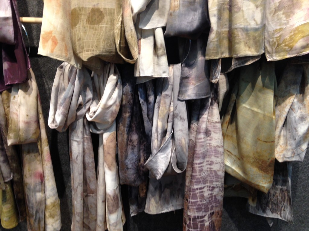 My eco-dyed scarves were a big hit at the show.